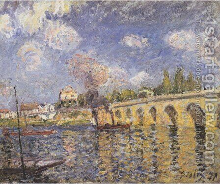 The Bridge, 1871 by Alfred Sisley - Reproduction Oil Painting