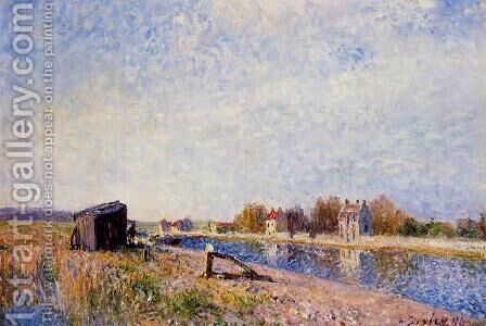 The Loing at Saint-Mammes, 1884 by Alfred Sisley - Reproduction Oil Painting