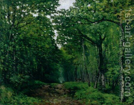 The Avenue of Chestnut Trees at La Celle-Saint-Cloud, 1867 by Alfred Sisley - Reproduction Oil Painting