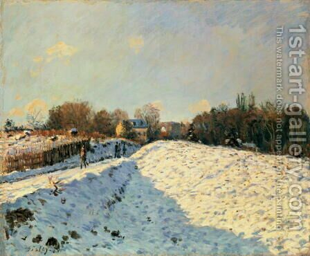 Effect of Snow at Argenteuil, 1874 by Alfred Sisley - Reproduction Oil Painting