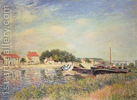 The Banks of the Loing at Saint-Mammes, 1885 by Alfred Sisley - Reproduction Oil Painting