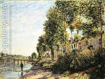 Morning Sun at Saint-Mammes, 1884 by Alfred Sisley - Reproduction Oil Painting