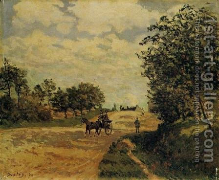 The Road from Mantes to Choisy le Roi, 1872 by Alfred Sisley - Reproduction Oil Painting