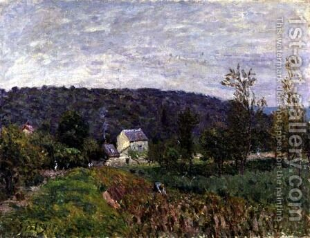 Autumn Evening on the Outskirts of Paris, 1879 by Alfred Sisley - Reproduction Oil Painting
