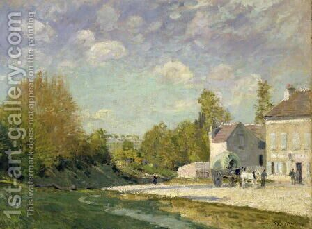 Paysage by Alfred Sisley - Reproduction Oil Painting