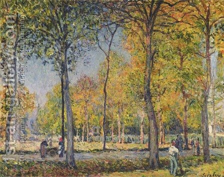The Bois de Boulogne by Alfred Sisley - Reproduction Oil Painting