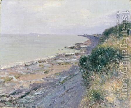 The Cliff at Penarth, Evening, Low Tide, 1897 by Alfred Sisley - Reproduction Oil Painting