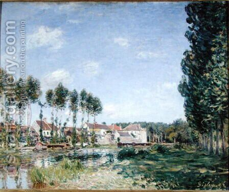 Banks of the Loing, Moret, 1892 by Alfred Sisley - Reproduction Oil Painting