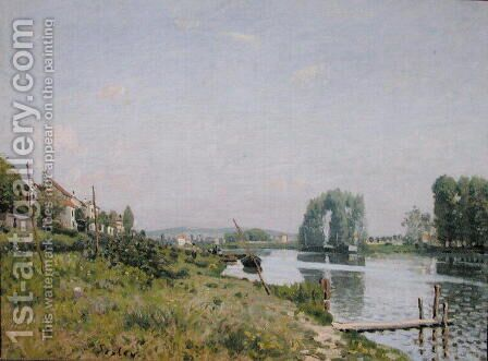 Ile Saint-Denis, 1872 by Alfred Sisley - Reproduction Oil Painting