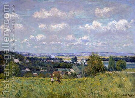 The Valley of the Seine at Saint-Cloud, 1875 by Alfred Sisley - Reproduction Oil Painting