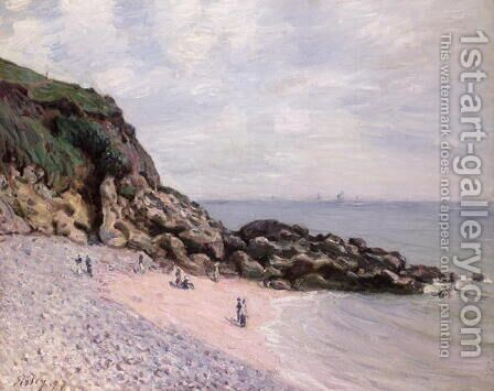 Langland Bay, 1897 2 by Alfred Sisley - Reproduction Oil Painting