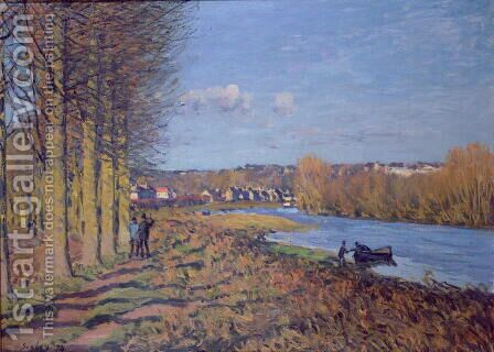 Winter Morning, 1874 by Alfred Sisley - Reproduction Oil Painting