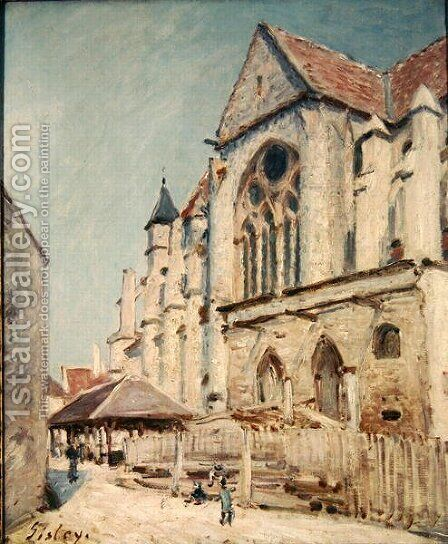 The Church at Moret 2 by Alfred Sisley - Reproduction Oil Painting