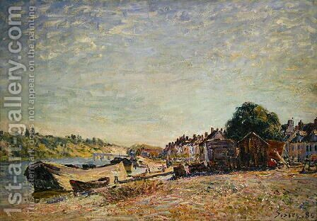 Les bois du Liong a Saint-Mammes, 1885 by Alfred Sisley - Reproduction Oil Painting