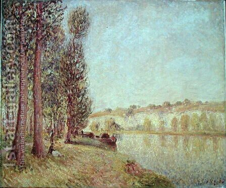 The Loing at Moret, 1888 by Alfred Sisley - Reproduction Oil Painting