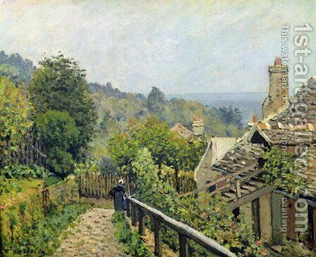 Louveciennes or, The Heights at Marly, 1873 by Alfred Sisley - Reproduction Oil Painting