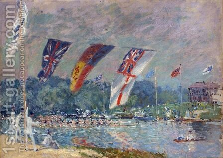 Regatta at Molesey, 1874 by Alfred Sisley - Reproduction Oil Painting