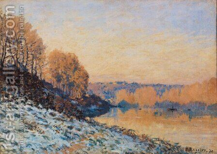 Port-Marly, White Frost, 1872 by Alfred Sisley - Reproduction Oil Painting