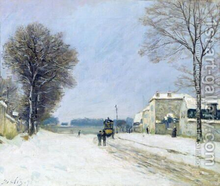 Winter, Snow Effect, 1876 by Alfred Sisley - Reproduction Oil Painting