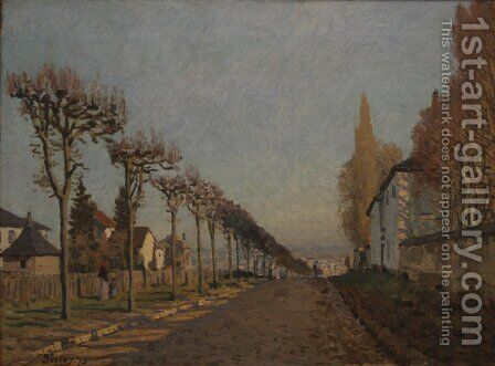 Rue de la Machine, Louveciennes, 1873 by Alfred Sisley - Reproduction Oil Painting