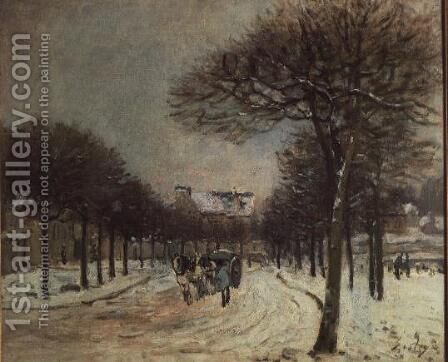 The Road to Saint-Germain at Marly, 1874-5 by Alfred Sisley - Reproduction Oil Painting