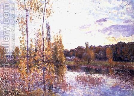The Lake at Chevreuil by Alfred Sisley - Reproduction Oil Painting