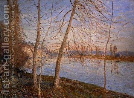 Winter Morning, 1878 by Alfred Sisley - Reproduction Oil Painting
