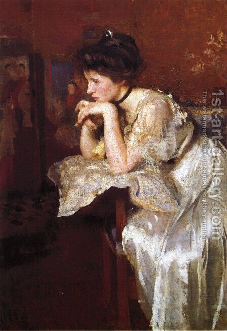 Reverie (Katherine Finn) 1913 by Edmund Charles Tarbell - Reproduction Oil Painting