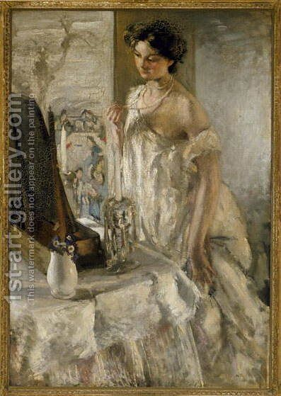 The Pearl Necklace, c.1905 by Henry Tonks - Reproduction Oil Painting