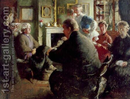 Steer at Home, 109 Cheyne Walk (on Christmas Eve) c.1929-30 by Henry Tonks - Reproduction Oil Painting