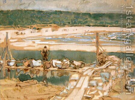 Good Harbor Beach, Gloucester, 1909 by Childe Hassam - Reproduction Oil Painting