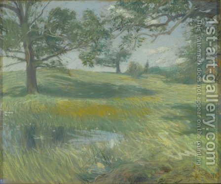 Meadows, c.1900-10 by Childe Hassam - Reproduction Oil Painting