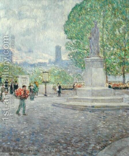 Quai Malaquais, 1897 by Childe Hassam - Reproduction Oil Painting