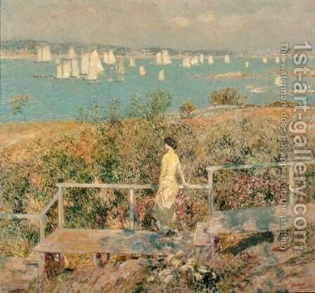 Yachts, Gloucester, 1889 by Childe Hassam - Reproduction Oil Painting