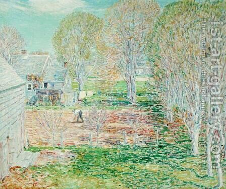 Spring Planting, 1923 by Childe Hassam - Reproduction Oil Painting