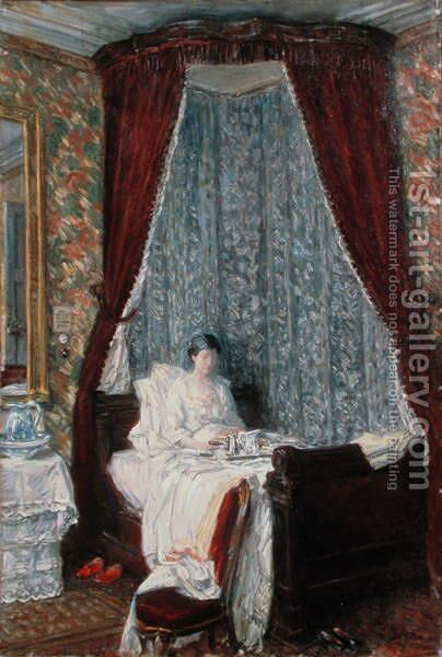 The French Breakfast by Childe Hassam - Reproduction Oil Painting