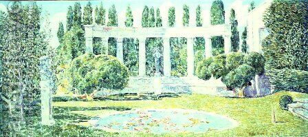 The Bartlett Gardens, Amagansett, 1933 by Childe Hassam - Reproduction Oil Painting