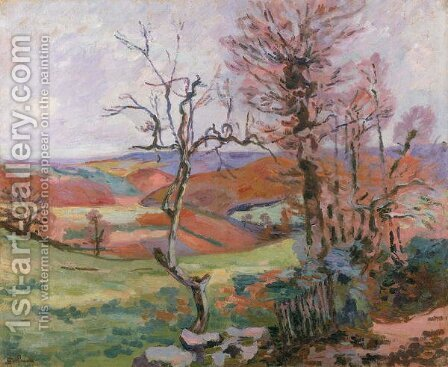 The Puy Barion at Crozant, Brittany by Armand Guillaumin - Reproduction Oil Painting