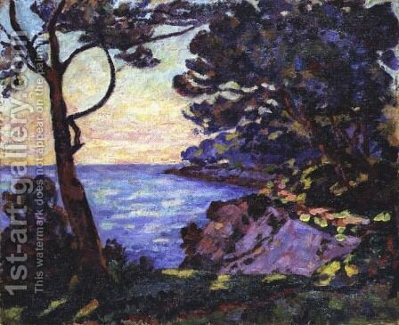 The Coast from l'Esterel, c.1902 by Armand Guillaumin - Reproduction Oil Painting