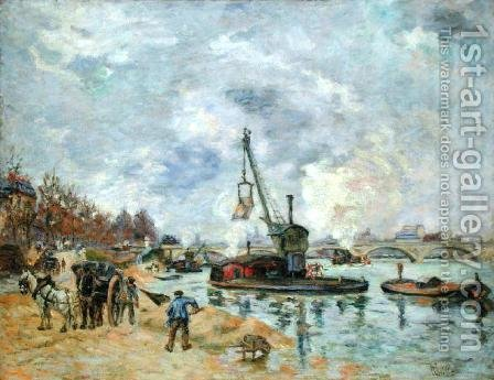 At the Quay de Bercy in Paris, 1874 by Armand Guillaumin - Reproduction Oil Painting