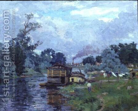 River Landscape by Armand Guillaumin - Reproduction Oil Painting