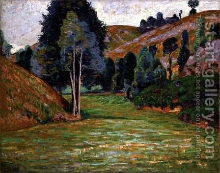 Vale at Pontgibaud, c.1890 by Armand Guillaumin - Reproduction Oil Painting