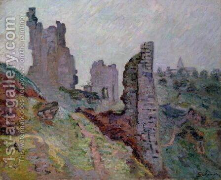Ruins in the Fog at Crozant, 1894 by Armand Guillaumin - Reproduction Oil Painting