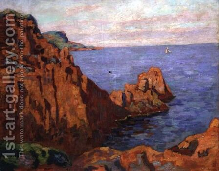 The Red Rocks, c.1910 by Armand Guillaumin - Reproduction Oil Painting