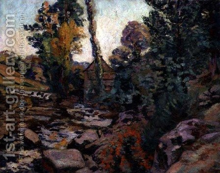 Bouchardon Mill, c.1894 by Armand Guillaumin - Reproduction Oil Painting