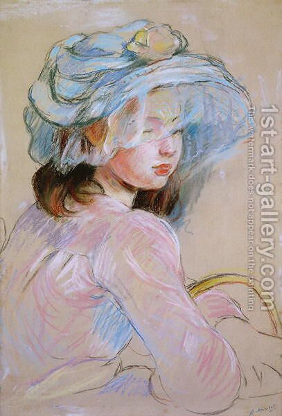 Girl Carrying a Basket, 1891 by Berthe Morisot - Reproduction Oil Painting