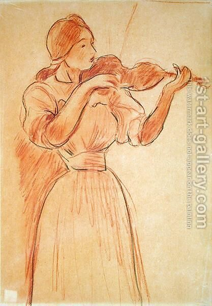 The Violin 1894 by Berthe Morisot - Reproduction Oil Painting