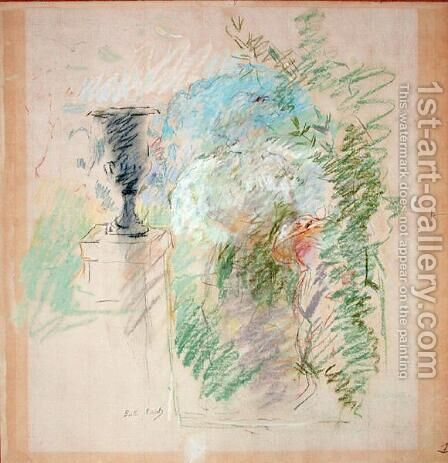 Vase in a Garden 1890 by Berthe Morisot - Reproduction Oil Painting