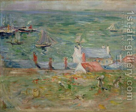 The Port of Gorey on Jersey, 1886 by Berthe Morisot - Reproduction Oil Painting