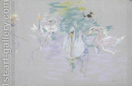 Swans 1885 by Berthe Morisot - Reproduction Oil Painting